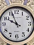 Часы настенные большие, кремового цвета с зеркальными вставками, фото 6