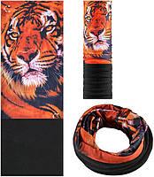 Зимняя мультиповязка (горловик) с флисом RockBros тигр