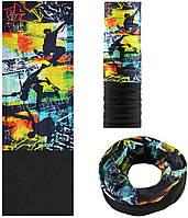 Зимняя мультиповязка (горловик) с флисом RockBros скейтбординг