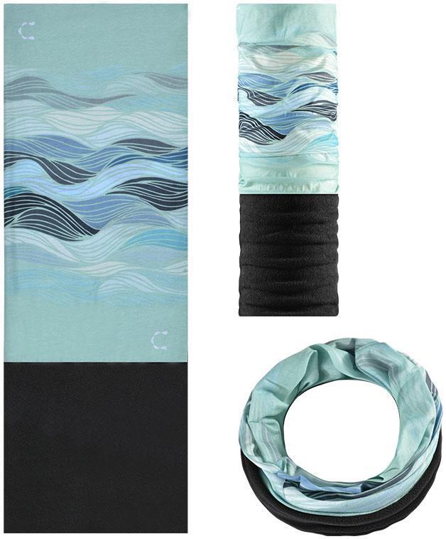 Зимняя мультиповязка (горловик) с флисом RockBros волны