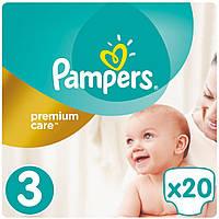 Подгузник Pampers Premium Care Midi Размер 3 (5-9 кг), 20 шт (4015400687818)