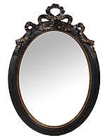 Зеркало Shishi настенное в деревянной раме овальное настенное под старину лофт loft