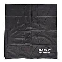 Складное портативное влагостойкое покрывало 110x160 Romix черное
