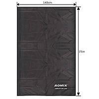 Складное портативное влагостойкое покрывало 140x170 Romix черное