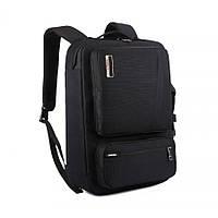 Многофункциональный рюкзак-сумка для ноутбука Socko Черный (M_R_080419_60)