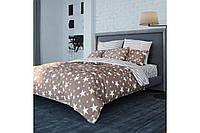 Постельное белье, евро  комплект, хлопковое постельное белье, ткань  Ранфорс, STAR BROWN