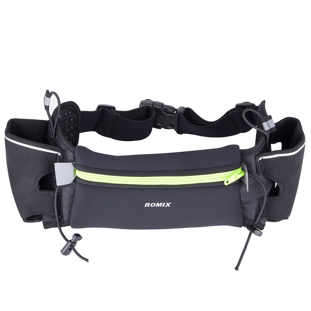 Спортивная сумка-пояс с карманами для бутылок Romix чёрная
