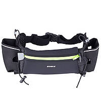Спортивная сумка-пояс с карманами для бутылок Romix чёрная, фото 1