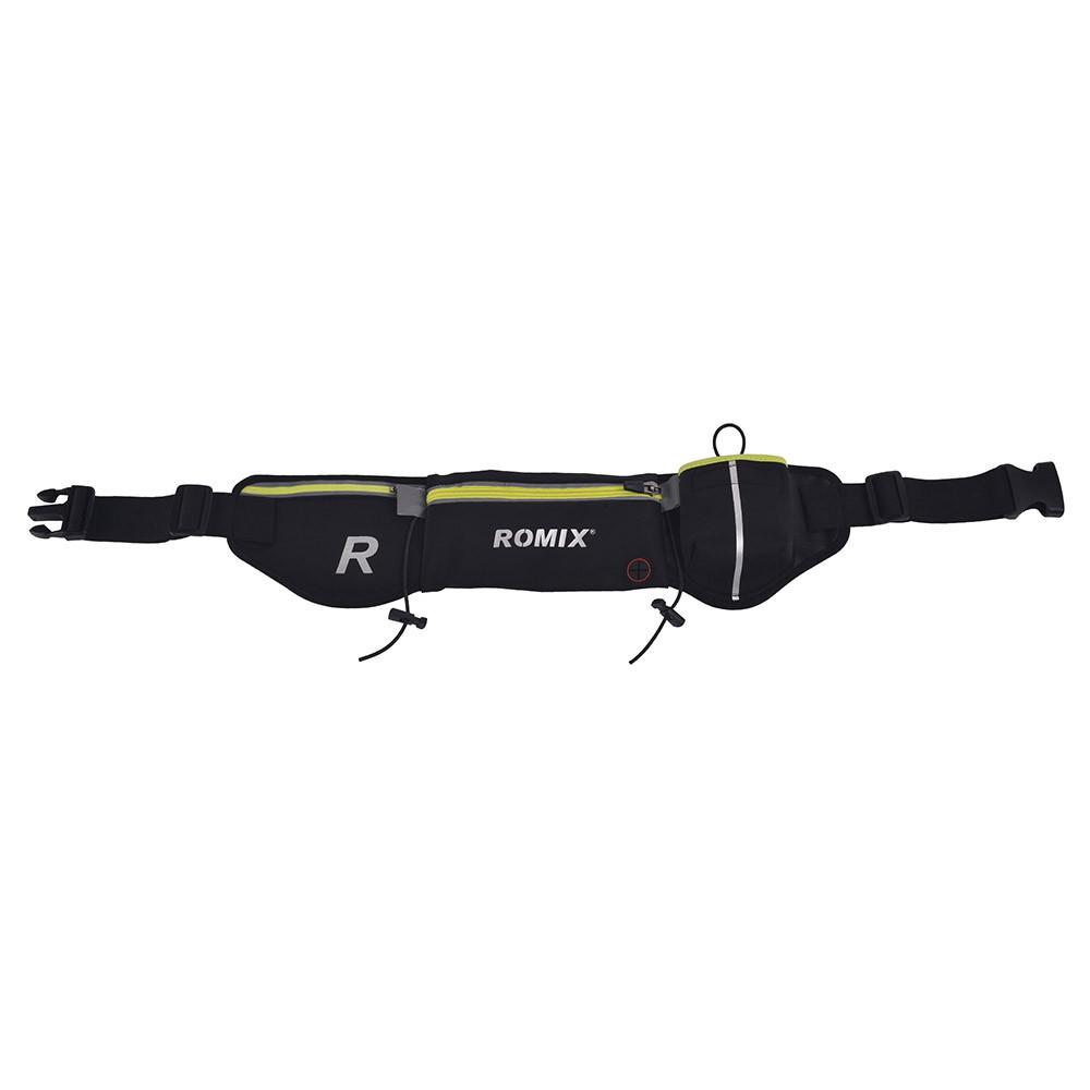 Спортивная пояс-сумка с карманами Romix чёрная