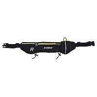 Спортивная пояс-сумка с карманами Romix чёрная, фото 1