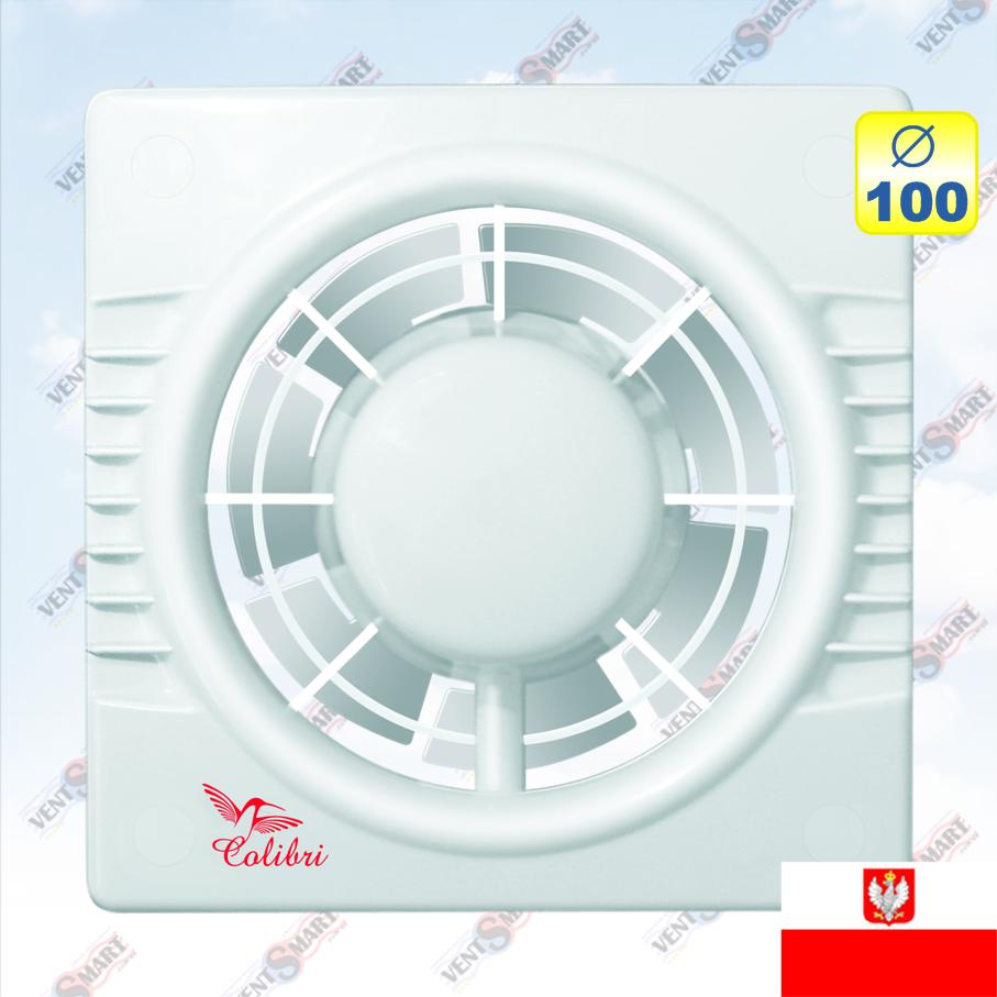 Вытяжной вентилятор Колибри 100 (Colibri 100) - VentSmart.com.ua - магазин розумної вентиляції, кондиціонування, опалення в Киеве