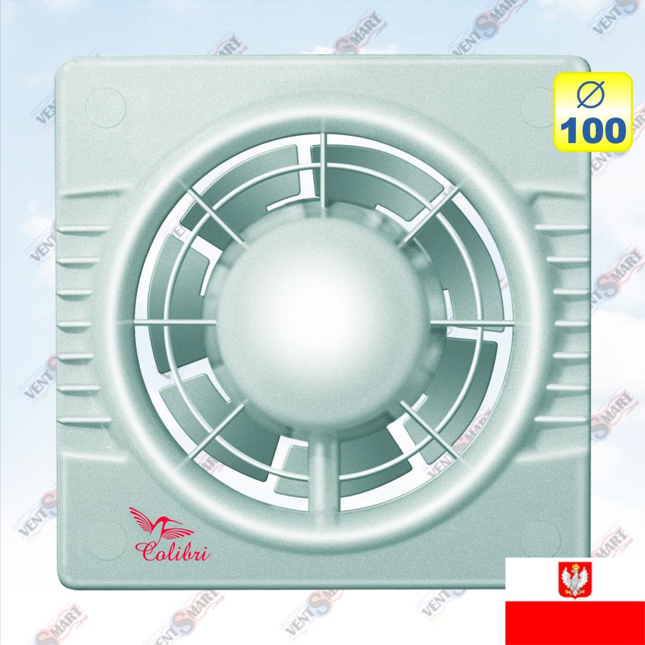 Настенный вентилятор Colibri 100 silver