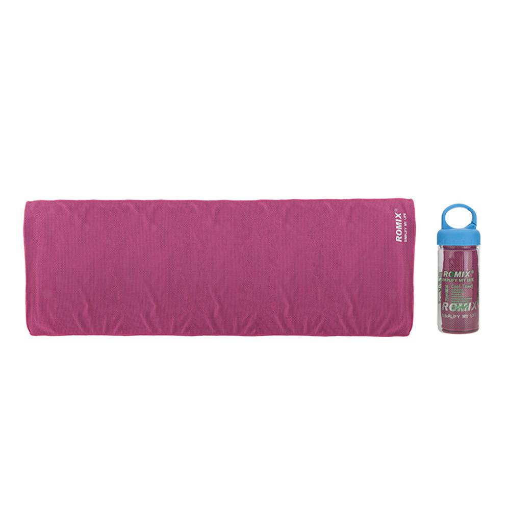 Холодное полотенце 30x90см Romix розовое