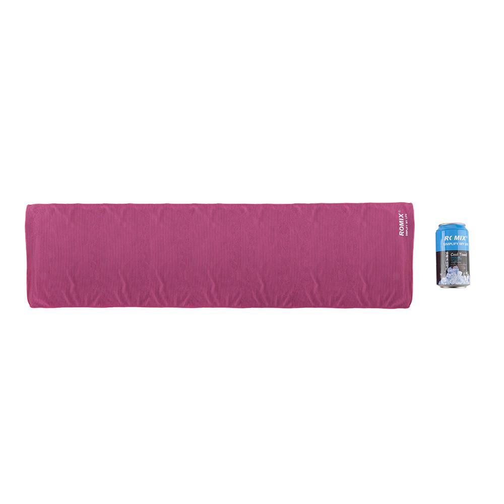 Холодное полотенце 30x120см Romix розовое