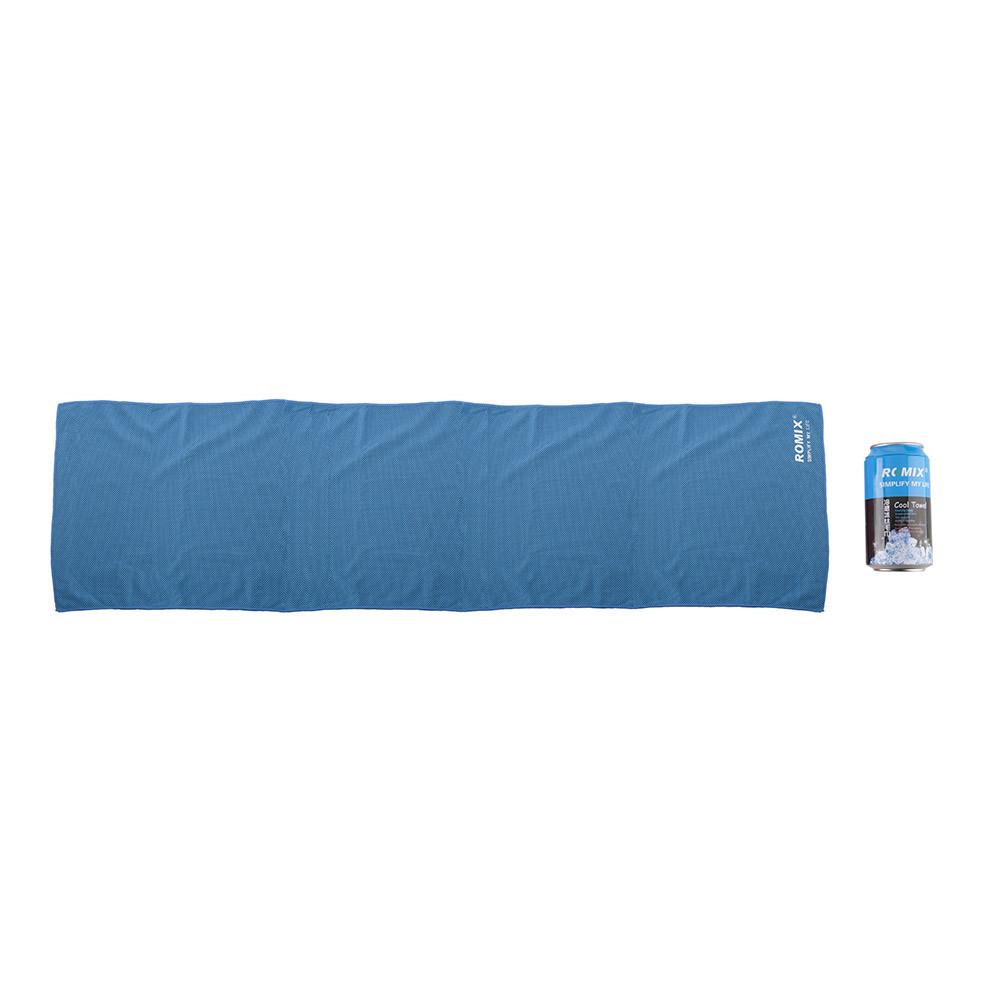 Холодное полотенце 30x120см Romix синее
