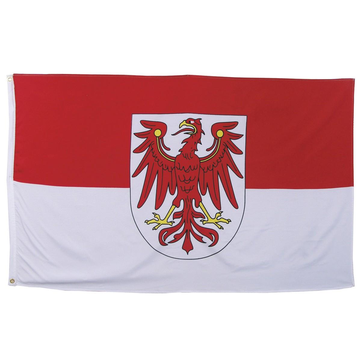 Флаг земли Бранденбург 90х150см MFH