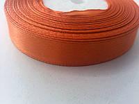 Лента атласная оранжевая 12 мм бобина 23 м