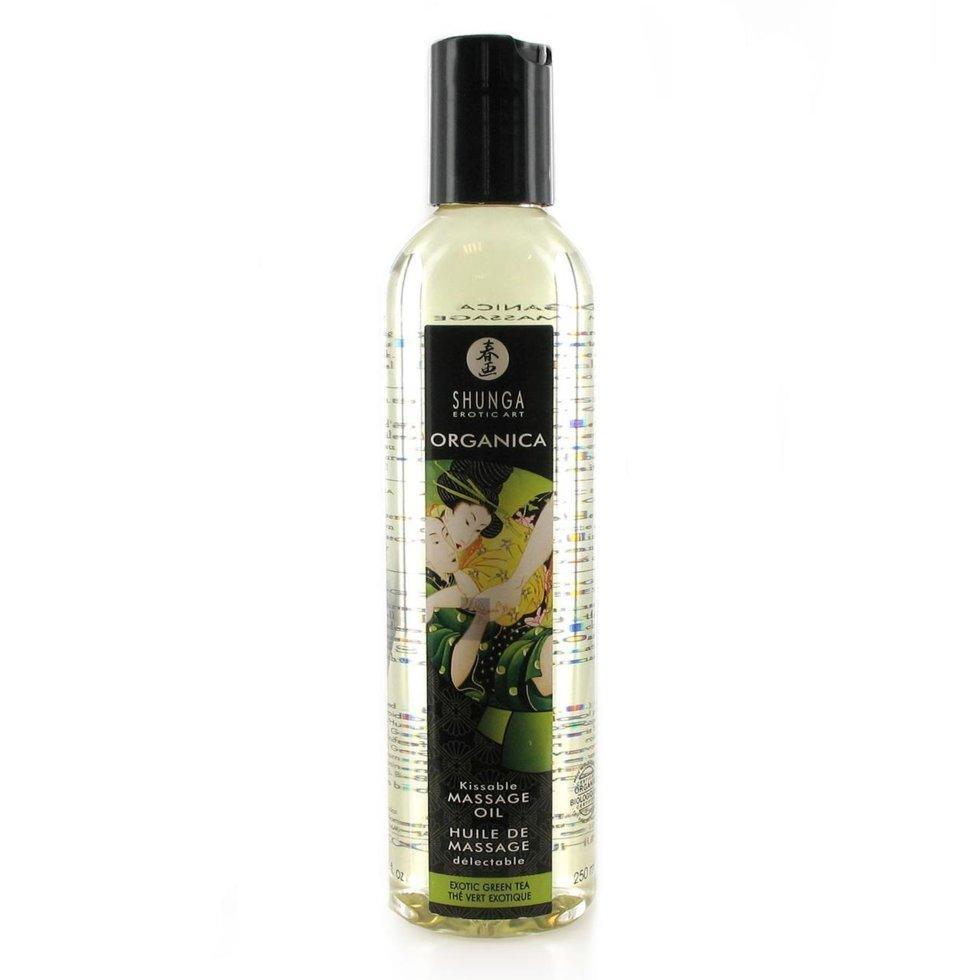 Съедобное массажное масло Shunga MASSAGE OIL ORGANIC Exotic Green Tea 250 мл