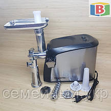 Электромясорубка + соковыжималка 3200 W Promotec 1055 Малайзия (реверс), фото 3