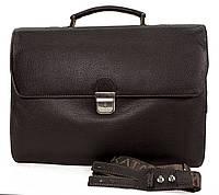 Классический мужской портфель из кожи
