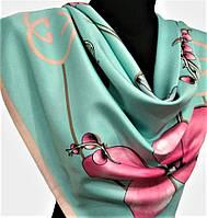 Брендовый шелковый платок Гуччи