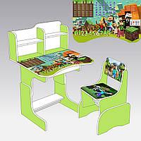 Детская парта трансформер, регулируемая, Minecraft, фото 1