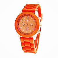 Стильные женские часы GENEVA Luxury ,оранжевые