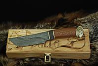 """Эксклюзивный нож ручной работы """"Ibex-1"""", дамасск"""