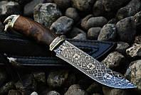 """Авторский коллекционный нож из мозаичного дамасска """"Viking-М"""", рукоять - айронвуд"""