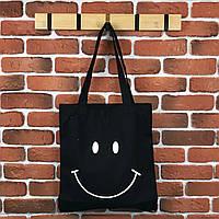 Тканевая сумка Шоппер City-A Smile Смайл Черная