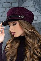 Женский картуз, кепи, фуражка с козырьком хит сезона 2020,модель Хелен, фото 1