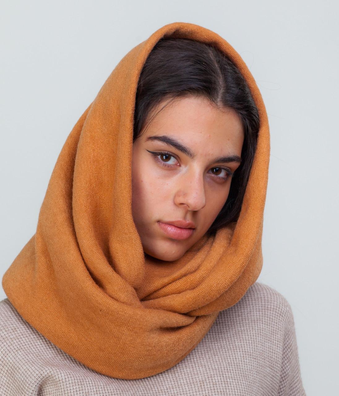 Шарф-снуд оранжевый