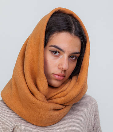 Шарф-снуд оранжевый, фото 2