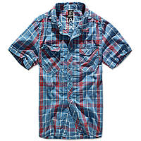 Рубашка Brandit Roadstar L Голубой с красным 4012.42, КОД: 690695