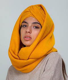 Тюрбан+шарф горчица