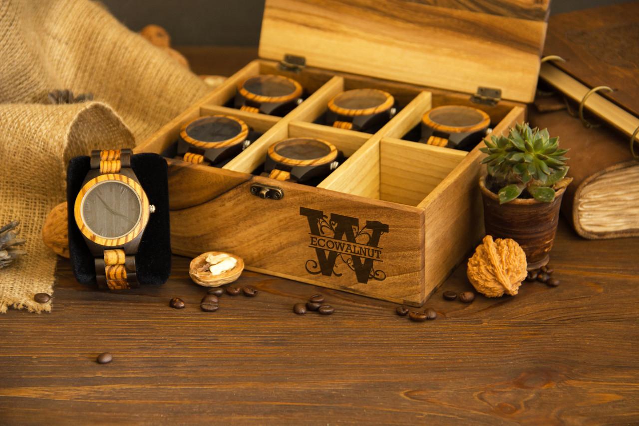 Коробочка для часов с деревянной крышкой 6