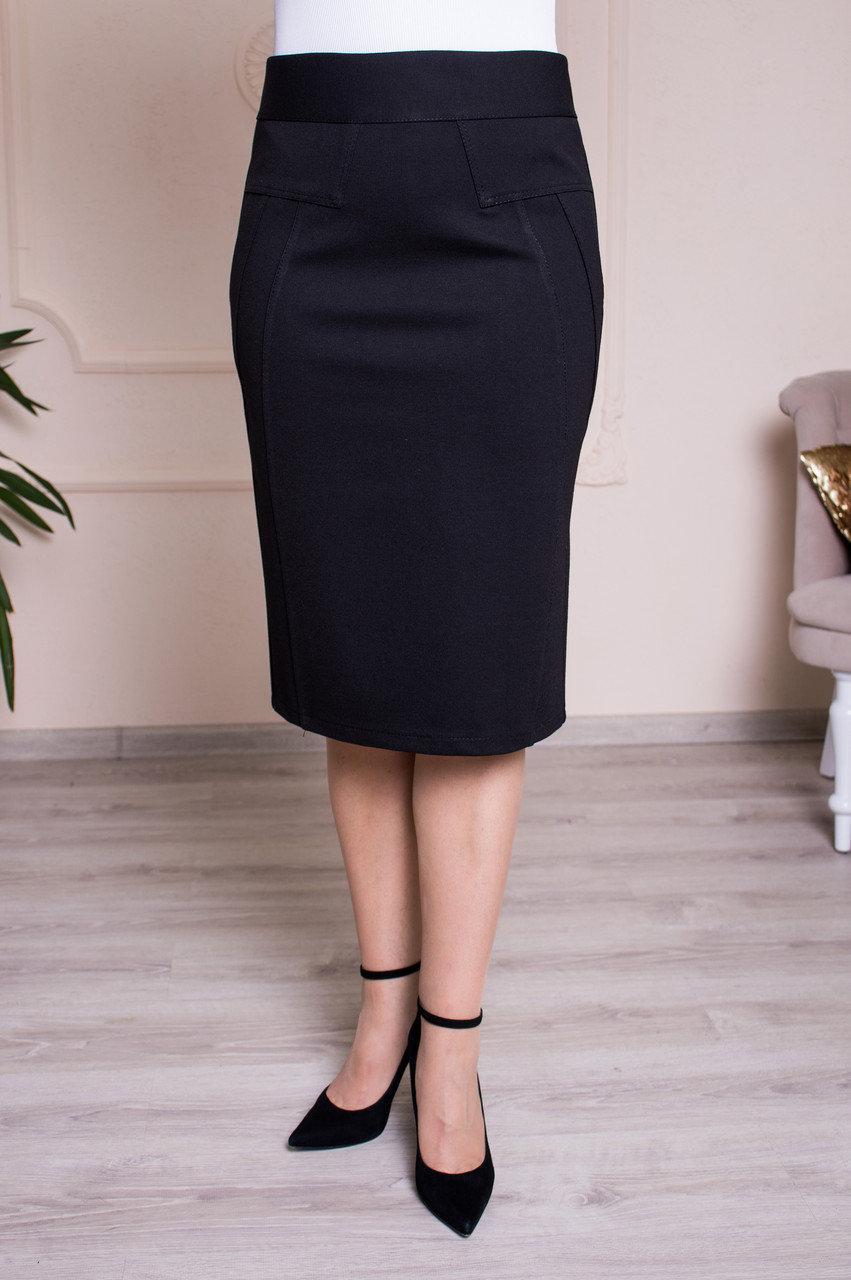 Черная трикотажная юбка Фернанда