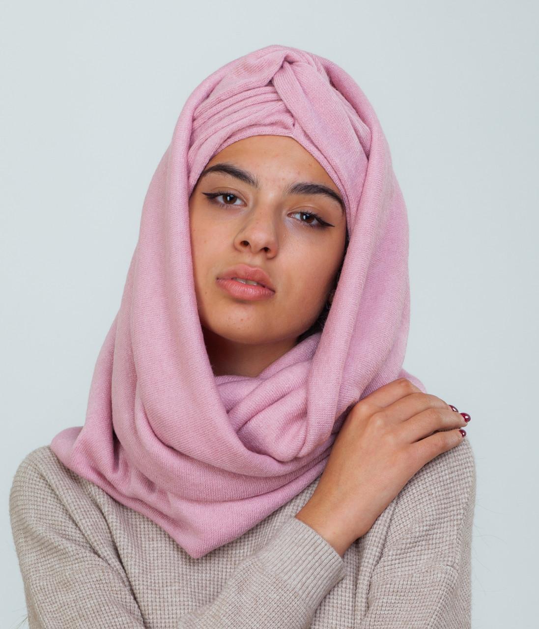 Тюрбан+шарф пудра