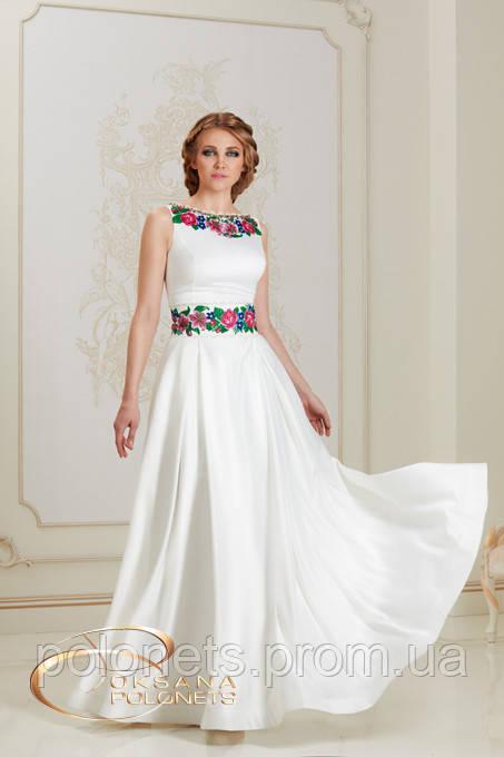 Сукня з вишивкою ліліями та трояндами  продажа 450ddac18ec59