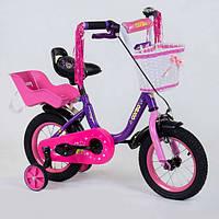 Велосипед Corso двухколесный с корзинкой и ручным тормозом R179198