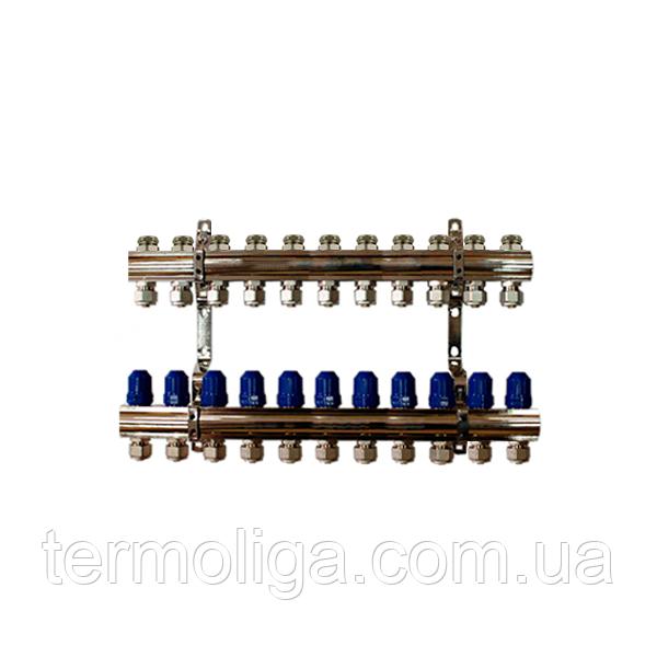 """Коллектор """"ITAL-therm"""" на 11 контуров для отопления латунный"""