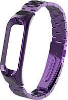 Ремешок UWatch Metal Strap For Xiaomi Mi Band 3 Purple