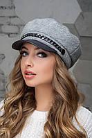Женский картуз, кепи, фуражка с козырьком хит сезона 2020,модель прованс 2 серый, фото 1