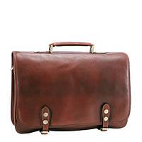 Кожаная мужская сумка-портфель