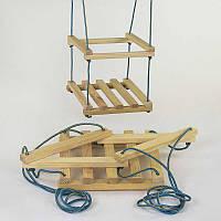 Качеля деревянная одинарная стандартная - 180139