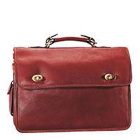 Коричневый мужской портфель из натуральной кожи