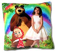 """Подушка """"Маша и медведь"""" с фото ребенка"""