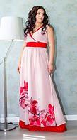 Красивое платье больших размеров в пол