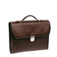 Кожаный мужской портфель папка на одно отделенние