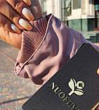 Розовая куртка парка с натуральным мехом чернобурки на капюшоне, фото 5